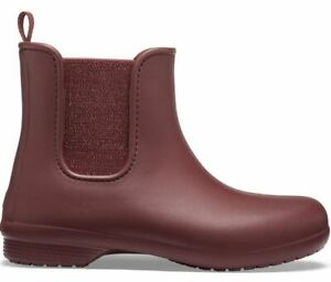 NEW Womens Crocs Freesail Metallic Chelsea Boots Shoes, size 8