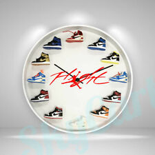 "New Handcrafted 12"" 3D Jordan Sneakers clock OFF OW nike supreme fieg"