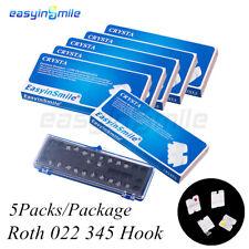5Packs Dental Orthodontic MINI Ceramic Brackets Roth 022 3.4.5 Hook EASYINSMILE
