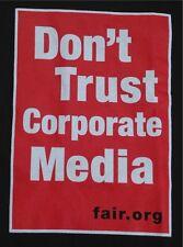 Don't Trust Corporate Media Black Slogan Tee  Fair.Org T-Shirt S Made in USA