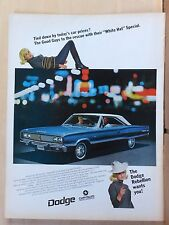 1967 magazine ad for Dodge - White Hat Special, Coronet 440, Tied down ?