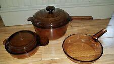 Visions Cookware: Corning Glass V-240-B Grab-n-Go 2.5L Pot, Skillet Fry Pan/Dish