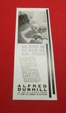 ADVERTISING PUB PUBLICITE ANCIENNE ADVERT 2.3 ALFRED DUNHILL LA PIPE DE LA RUE
