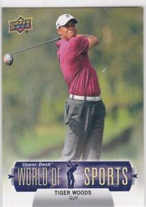TIGER WOODS Golf 2011 Upper Deck WOPLD OF SPORTS Card MAJOR CHAMPIONSHIPS