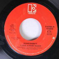 Country 45 Eddit Rabbitt - I Love A Rainy Night / {} On Short Road To Love