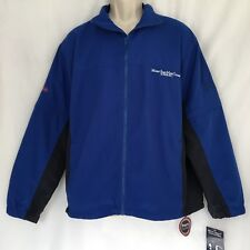 NWT Mt. St. Mary College Convertible Windbreaker Jacket Mens Large Zip Off Arms