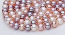 48'' Long Fashion Women's Natural 7-8MM Multicolor Freshwater Pearl Necklace