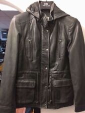 Cappotti, giacche e gilet da uomo neri Pelle Pelle
