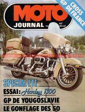 MOTO JOURNAL  417 HONDA Otus 500 HARLEY DAVIDSON 1200 1340 FLH Peugeot 102 1979