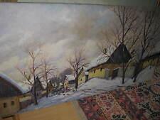 NEMETH Bela, *1856  Winterliche Dorflandschaft