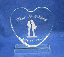 Western Cowboy Wedding Cake Topper Personalized Engrave
