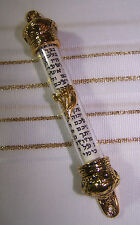 Jewish Gold Royal Crown Clear Cylinder Mezuzah