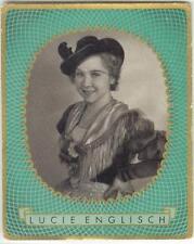 1937: Lucie Englisch, German starlet, large card #481