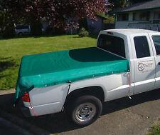 Mesh Tarp 6'X8' Pick-Up Truck Bed Cover, Green, Heavy Duty