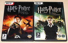 2 PC GAMES BUNDLE - HARRY POTTER & THE GOBLET OF FIRE & ORDER OF THE PHOENIX
