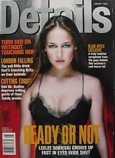 LEELEE SOBIESKI August 1999 DETAILS Magazine  BLAIR WITCH PROJECT