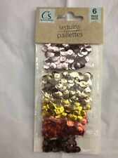 Crafter's Square Sequins Red Golds Silver Copper and More 6 Colors