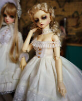 """BJD Clothes SD Long Dress (White) - for 1/3 22"""" Doll"""
