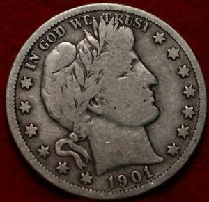 1901-S San Francisco Mint Silver Barber Half Dollar