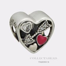 Authentic Pandora Sterling Silver Love Struck Enamel CZ Bead 792039CZ *LIMITED*