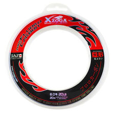 Xzoga 100% Fluorocarbon Invisible Fishing Leader Clear Line 20lb/20m (1) JAPAN