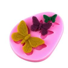 3 Butterfly Silicone Mould for Sugar Craft, Fondant, Cake Decorating ,Baking