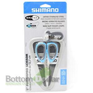 "Shimano SSS05N Brutas 5"" PowerPro Non-Slip Finger Loop Scissors with Sheath"
