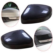 2pcs Carbon Fiber Rearview Mirrors Cover Trim Cap Fit for Ford Focus 2012-2018