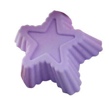 10X Silicone Star Shape Chocolate Cup Cake Muffin Baking Molds ZH