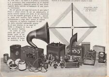 ARTICOLO 1934 RADIO RADIOFONIA AVVENTO MINI RADIO ONDE CORTE APPARECHI PLURIONDE