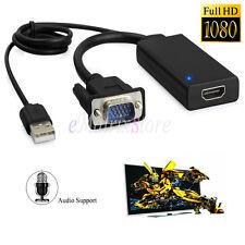 VGA a HDMI Video y USB Audio HD 1080P Cable Convertidor para ordenador portátil/