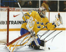Sweden Jacob Markstrom Signed Autographed 8x10 NHL Photo COA B