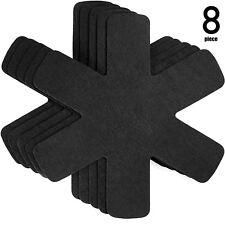 Proteggi pentole e salvapadelle Set 5 o 8 pezzi - Lunghezza 38 cm - nero grigio