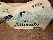 Vintage Attends (1995) LARGE Adult Diapers (Pack of 12) FAST SHIP NOW GLOBALLY!