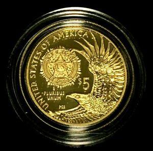 2019 W $5 Gold American Legion 100th Anniversary Coin + Original Box & COA