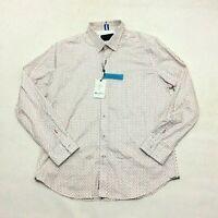 Robert Graham Mens Red White Blue Mitchel Tailored Fit Button Front Shirt Sz XL