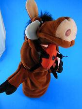 "Lion King Hand Puppet Pumba Wart Hog with Bug  Disney 10"""