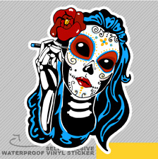 Katrina Floral Day Of the Dead Vinyl Sticker Decal Window Car Van Bike 2494