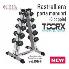 Toorx - RPM-6 - ESPOSITORE RASTRELLIERA PESI PORTA MANUBRI per 6 COPPIE