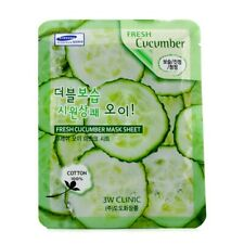 NEW 3W Clinic Mask Sheet - Fresh Cucumber 10pcs Womens Skin Care