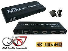 Splitter HDMI 1.4b - 4 Ports - Boitier Métal - Résolution 4K (2160x3840) - 3D