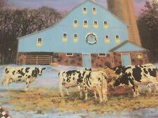 "Danbury Mint All Is Calm Plate Farmstead Reflections Bonnie Mohr Cows 8"" #1204"
