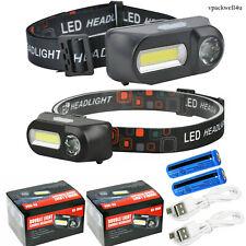 Usb Rechargeable Led Headlamp Headlight Head Lamp Torch Flashlight Work Light Us