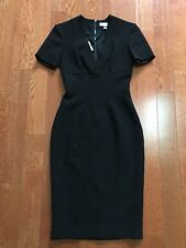 NWT $850 Burberry London Black Ornate Seam Structured Pencil Dress Sz US 0/UK 2