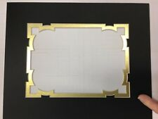 Picture Framing Mat Fancy Grecian Notch 8x10 with 5x7 photo Many Color Choices