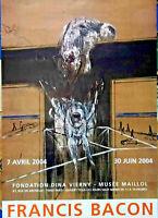 Francis Bacon Ausstellungsplakat, 2004 in Paris Musée Maillol, selten