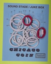 1976 Chicago Coin Sound Stage / Juke Box pinball rubber ring kit