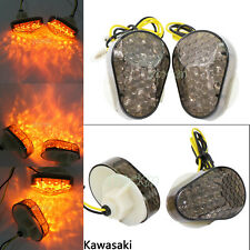 Smoke Turn Signals Light Fit For Kawasaki Ninja ZX 6R1998-2004 ZX636 2003 2004