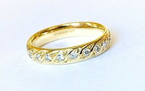 Half Eternity Diamonds 0.45ct. Colour: F-G Clarity: Vvs2 Gold 18k UKRing Size: M