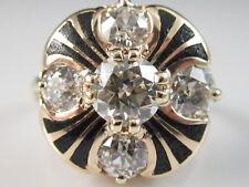 Antique Old European Diamond Ring 14K Rose Gold 2.07ctw Vintage Estate Mine Cut